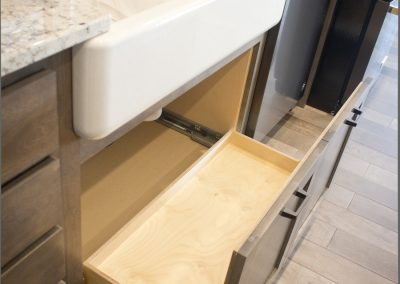 Pull-out attached to doors.