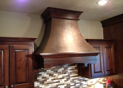 Cherry Range Hood with Faux Finish