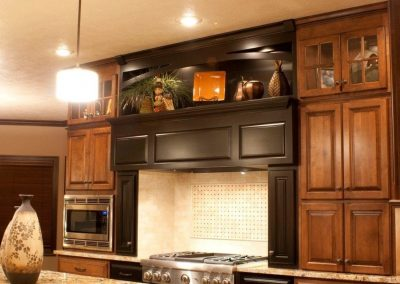 Maple Range Hood With Black Tint