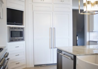 Panels to cover refrigerator door to blend in with cabinets