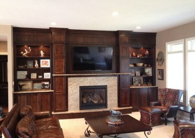 Rustic Cherry with Saddle Stain