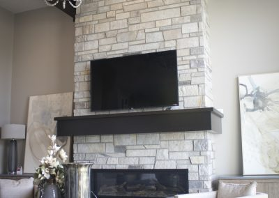 Natural Birch-Timber Mantle